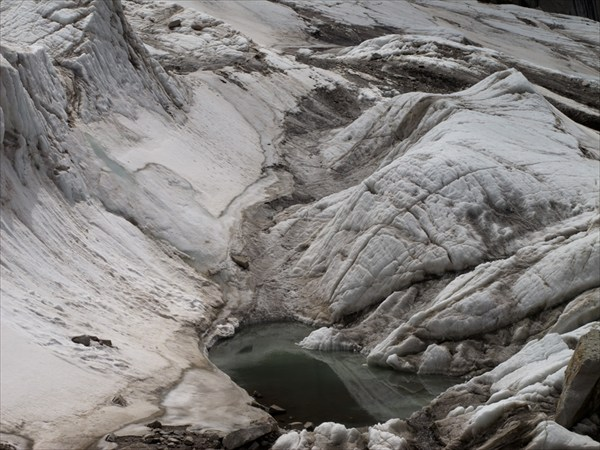Водоем на леднике