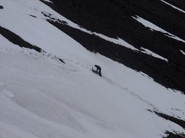Завершение подъема на перевал Ак-Суу
