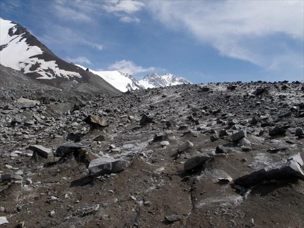 По леднику