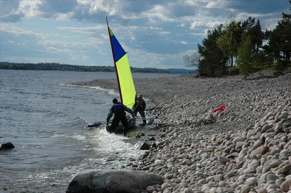 Пляжа из камней