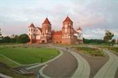 Замок на закате