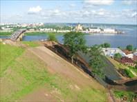 Вид на Оку с Дятловых гор-город Нижний Новгород