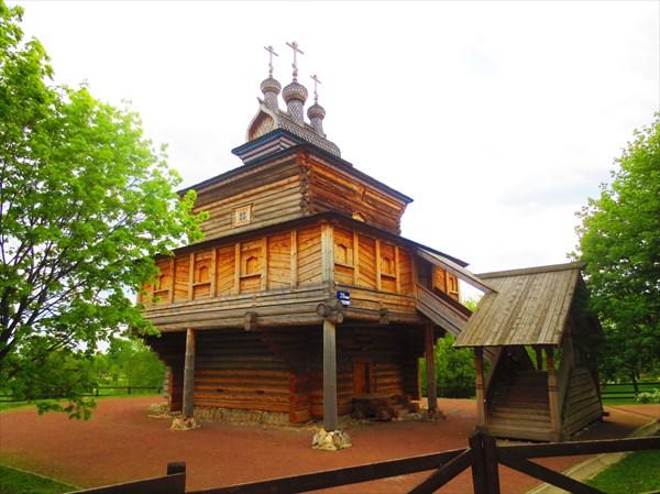 Деревянный храм Георгия Победоносца в Коломенском 1685