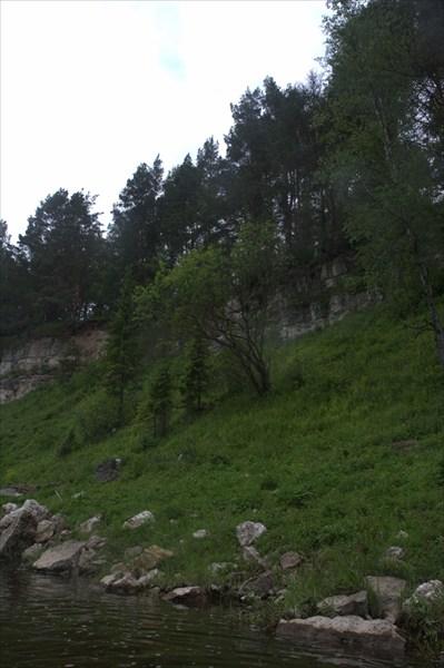 Скалы на р. Держа