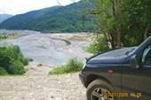 Русло реки Шахе с высоты