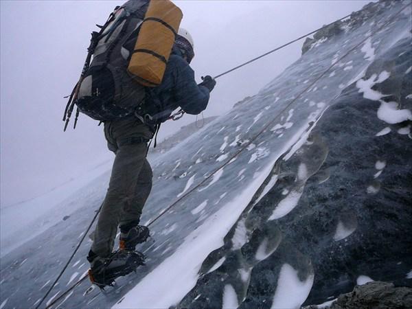 Подъем на ледник