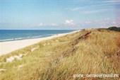 Куршская коса со стороны Балтийского моря.