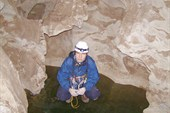 пещера `Труба` замёрзший сифон