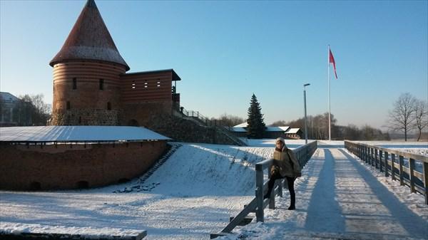 Фрагмент старой крепости в Каунасе.