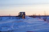 Трактор и фура