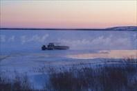 Начало зимника по реке Таз