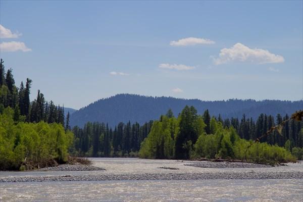 на фото: Река Большой Абакан