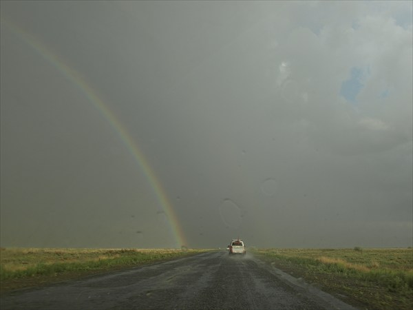 на фото: Степной Казахстан