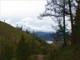 Вид на озеро Маркаколь и с. Урунхайка