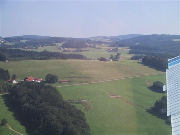 Вид лагеря с самолета