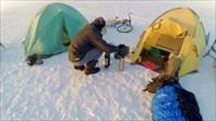 Велопоход по льду Байкала.