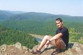 На одной из вершин Урала, внизу - Агидель.