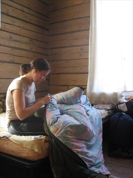 В Каге, подшиваем спальники