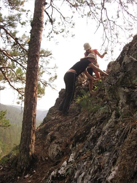 Лезем на гору Стог.