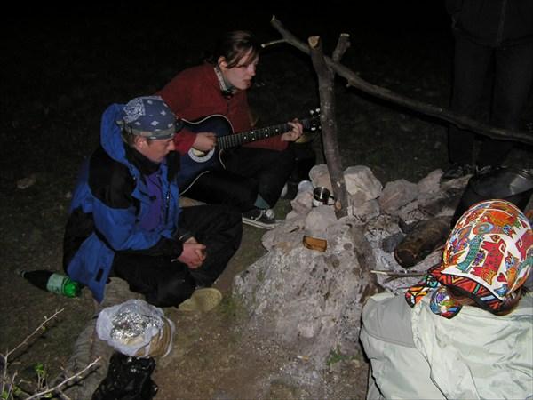 Киса с гитарой