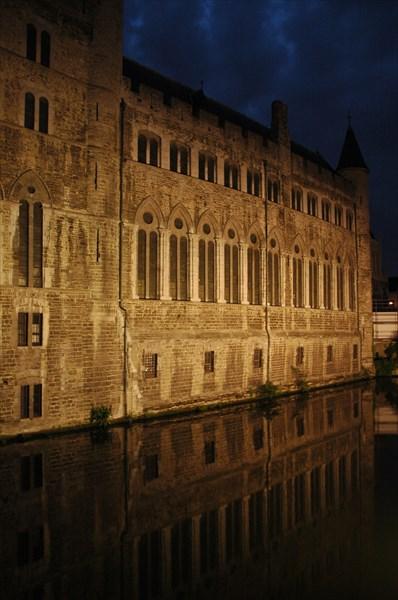 Гент ночью