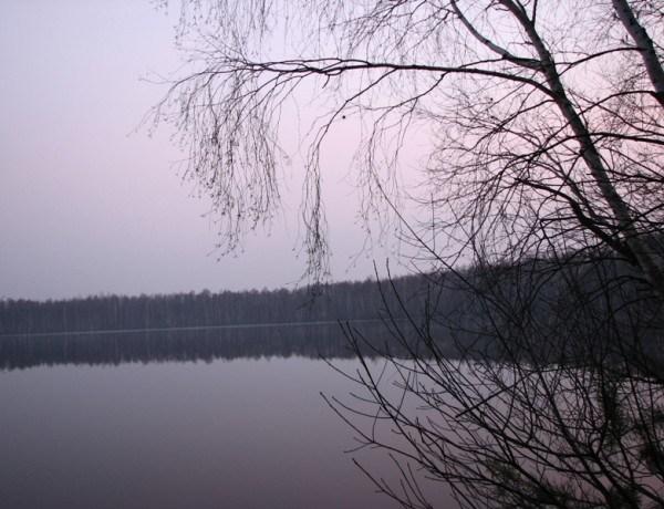 Рассвет на Уржинском озере