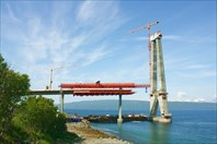 Строящийся мост Halogalandsbrua