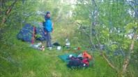 Наш партизанский бивак на берегу Valfjorden