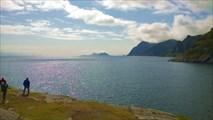 Остров V?roy на горизонте. Вид с окраины A