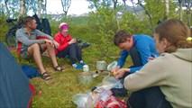 Ужин на Storvatnet