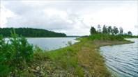 Озеро Салонъярви - протока к озеру Вуонтеленъярви