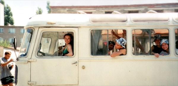 В этом автобусе мы забрасывались на Загедан
