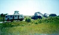 На вершину нас буксировал трактор, а потом мы сами покатили вниз