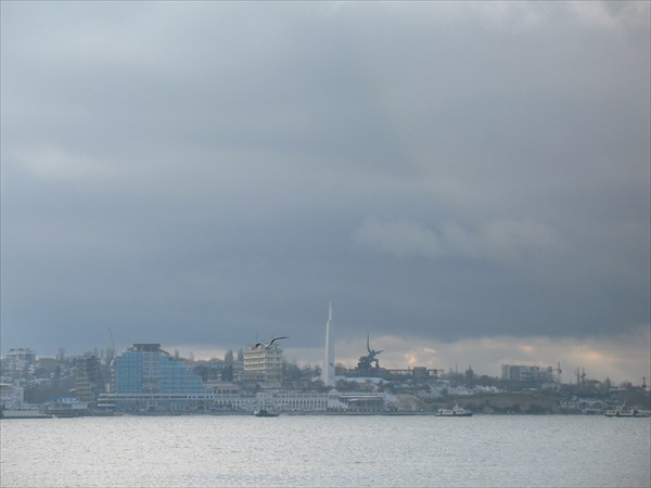Вид на Севастополь с моря
