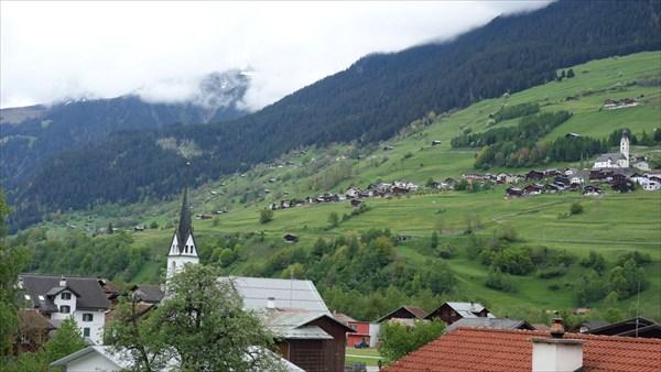 Альпийская деревня.