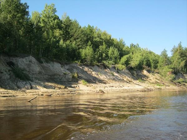Песчанные берега на реке Парабель