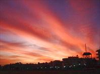 закат в Кизкалеси