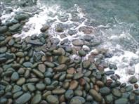 Естественный берег острова в черте города.