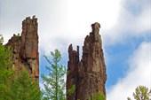 Скалы на Подкаменной Тунгуске