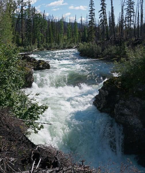 на фото: Водопад Чойган-Хема