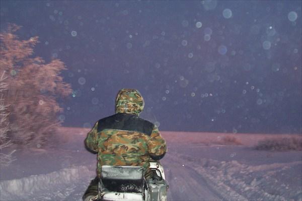 Поездка на буране по зимнику в пос. Белоярск