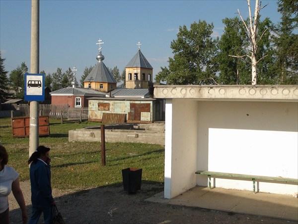 Автобусная остановка в пос. Старая Чара