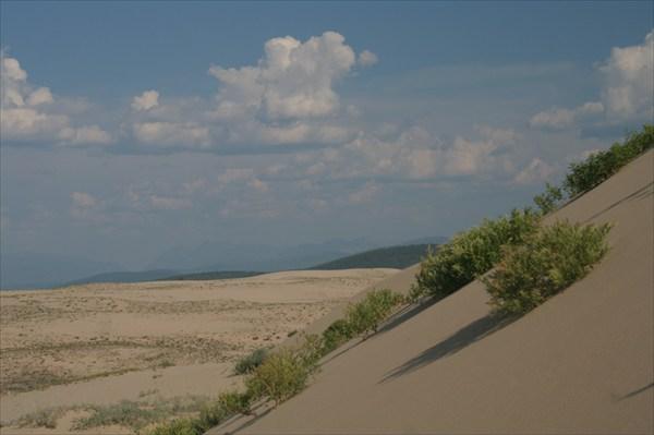 Но некоторые дюны достаточно крутые
