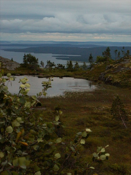 Вид с горы Кивакка