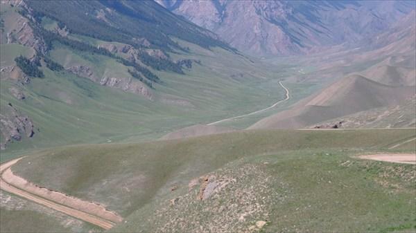 Дорога на перевал Джаан-Булак