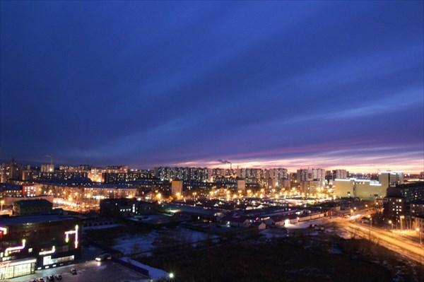 на фото: Ночной Нижневартовск