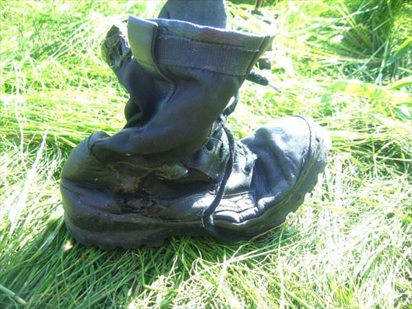 Сожженный ботинок