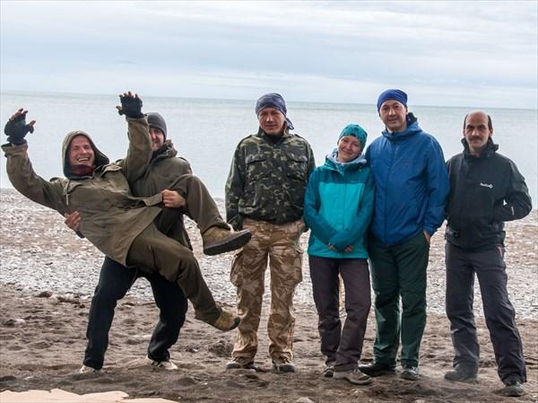 Наша команда в Рыбачьем. Конец маршрута
