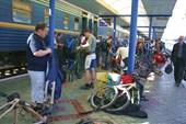 Сборы на вокзале в Симферополе.