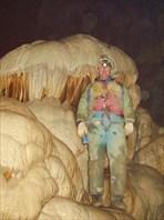 В сердце пещеры. Саня в  Бриллиантовом (?) зале.